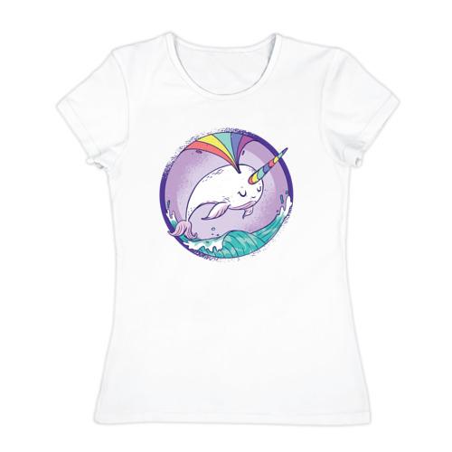 Женская футболка хлопок  Фото 01, Нарвал