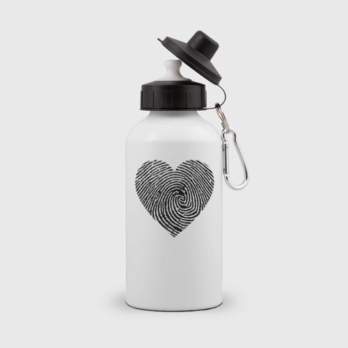 Бутылка спортивная След на сердце.