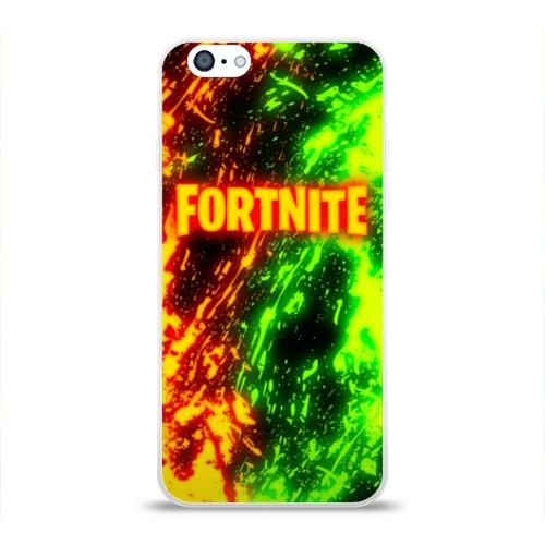 Чехол для Apple iPhone 6 силиконовый глянцевый FORTNITE TOXIC FLAME Фото 01