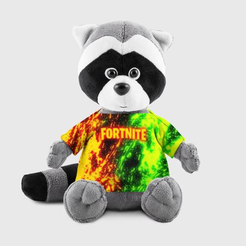 Енотик в футболке 3D FORTNITE TOXIC FLAME Фото 01