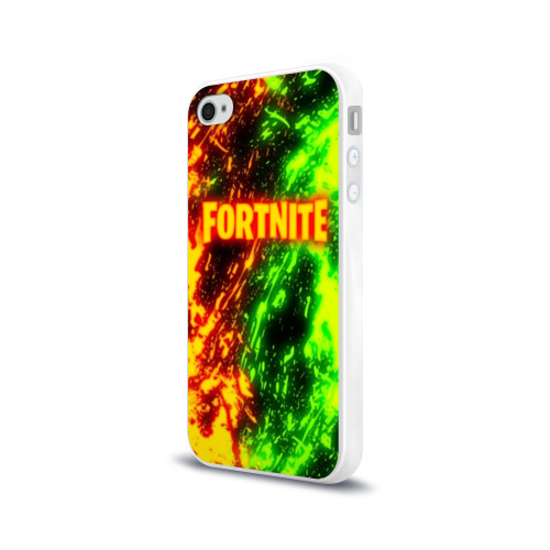 Чехол для Apple iPhone 4/4S силиконовый глянцевый FORTNITE TOXIC FLAME Фото 01