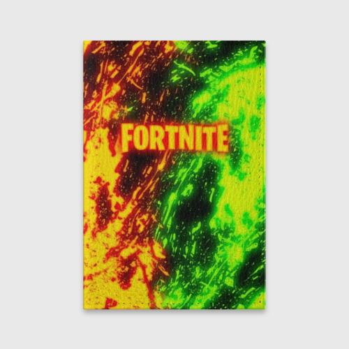 Обложка для паспорта матовая кожа FORTNITE TOXIC FLAME Фото 01