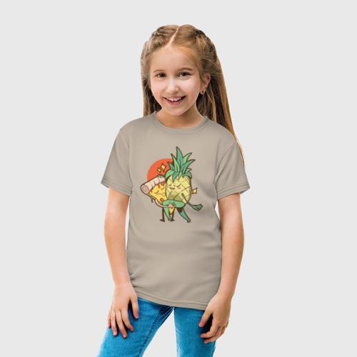 Детская футболка хлопок Пицца и Ананас Фото 01