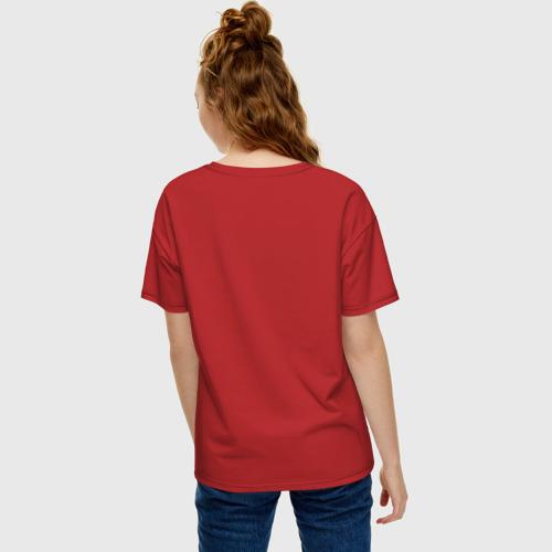 Женская футболка хлопок Oversize Пицца и Ананас Фото 01