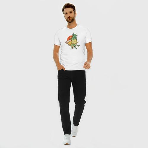 Мужская футболка хлопок Slim Пицца и Ананас Фото 01