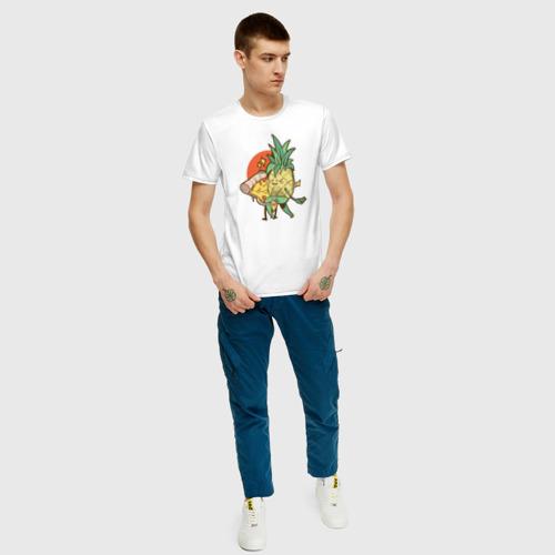 Мужская футболка хлопок Пицца и Ананас Фото 01