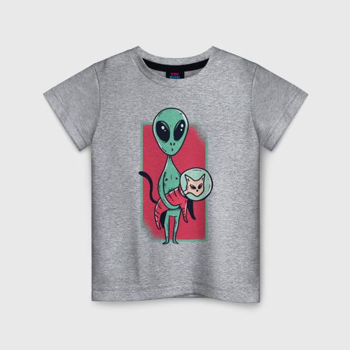 Детская футболка хлопок Пришелец с Котом Фото 01