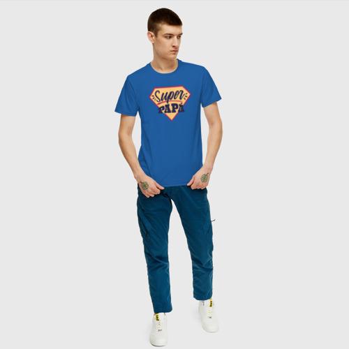 Мужская футболка хлопок Супер Папа Фото 01