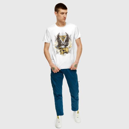 Мужская футболка хлопок Орел на черепе Фото 01