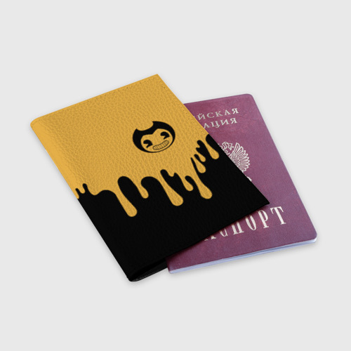 Обложка для паспорта матовая кожа Bendy And The Ink Machine (37) Фото 01
