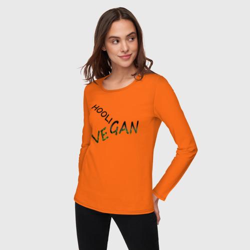 Женский лонгслив хлопок Vegan hooligan Фото 01
