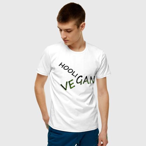 Мужская футболка хлопок Vegan hooligan Фото 01