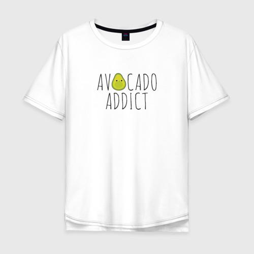 Мужская футболка хлопок Oversize Авокадозависимый Фото 01