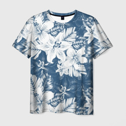 Tropical monochrome flowers