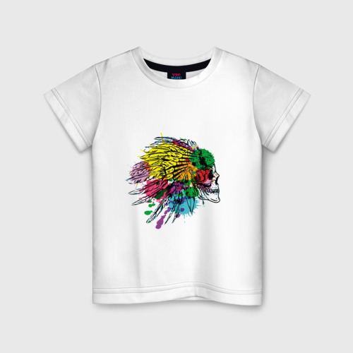 Детская футболка хлопок Chief's skull Фото 01