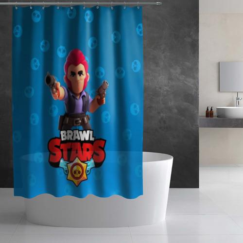 Штора 3D для ванной Brawl Stars 11 Фото 01