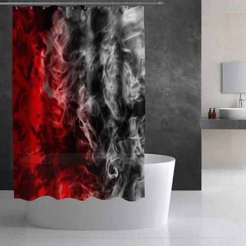 Штора 3D для ванной БИТВА ОГНЕЙ Фото 01