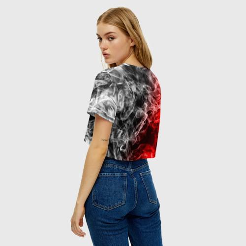 Женская футболка Crop-top 3D БИТВА ОГНЕЙ Фото 01