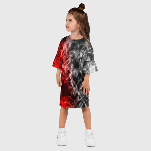 Детское платье 3D БИТВА ОГНЕЙ Фото 01