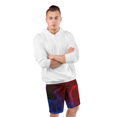 Мужские шорты 3D спортивные БИТВА ОГНЕЙ Фото 01