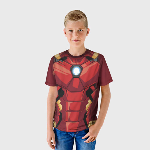 Детская футболка 3D  Фото 01, Iron Man costume