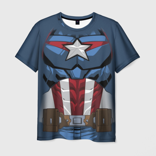 Мужская футболка 3D Captain America costume