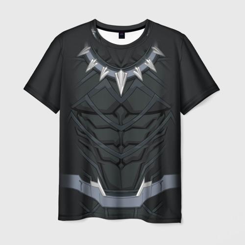 Мужская футболка 3D Black panther costume