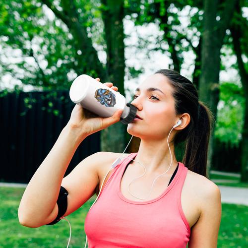Бутылка спортивная Череп с Осьминогом Фото 01