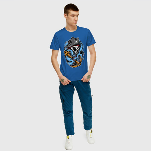Мужская футболка хлопок Череп с Осьминогом Фото 01