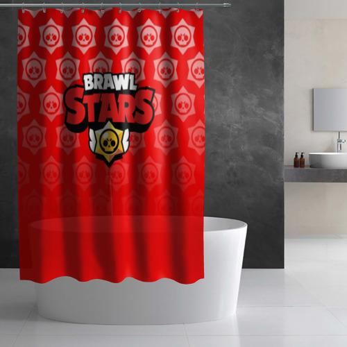 Штора 3D для ванной BRAWL STARS Фото 01