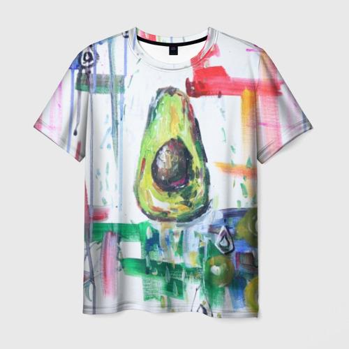 Мужская футболка 3D Авокадо авангард