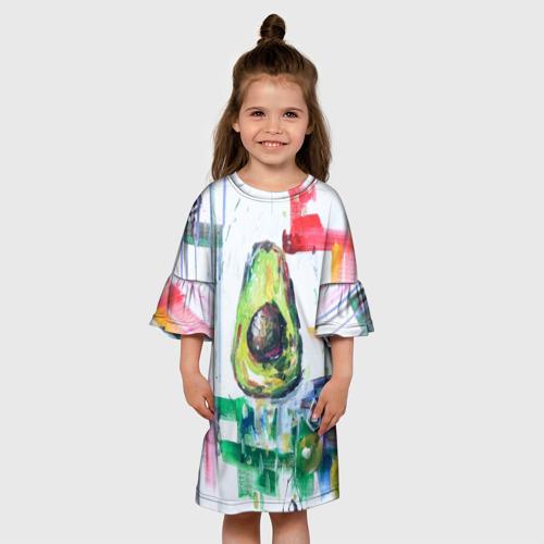 Детское платье 3D  Фото 01, Авокадо авангард