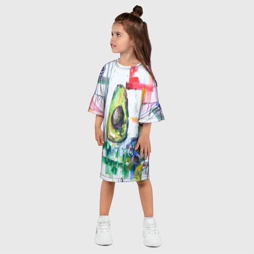 Детское платье 3D  Фото 03, Авокадо авангард