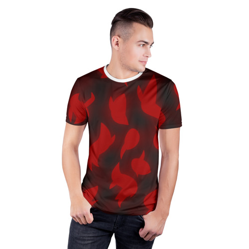 Мужская футболка 3D спортивная  Фото 03, Сияние Сердец