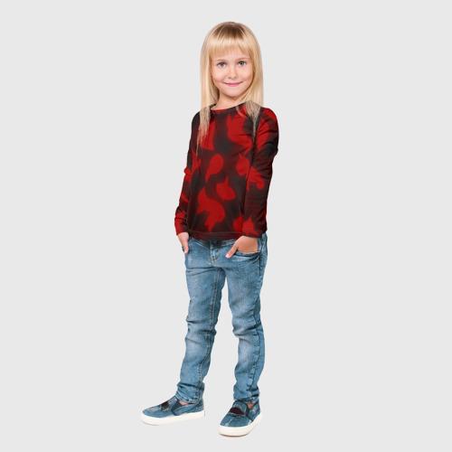 Детский лонгслив 3D Сияние Сердец Фото 01