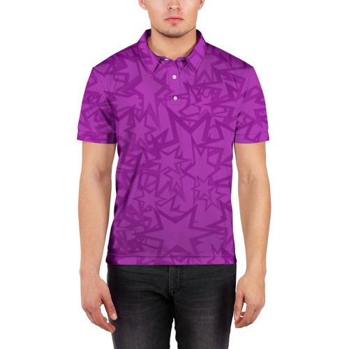 Мужская рубашка поло 3D Абстракция. Фото 01