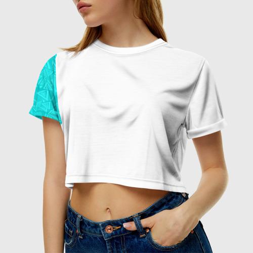 Женская футболка Crop-top 3D Абстракция. Фото 01