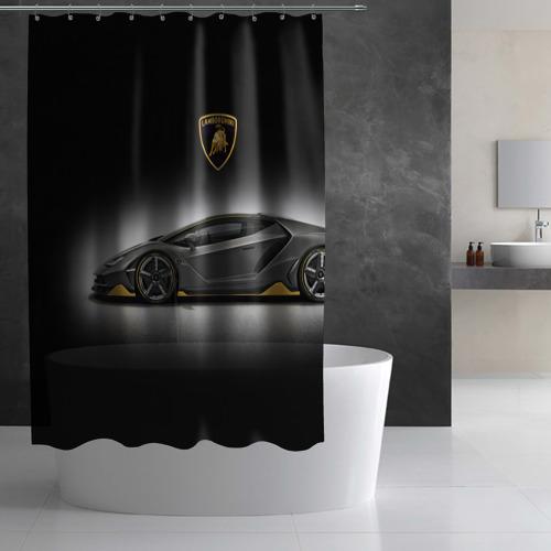 Штора 3D для ванной Lambo Фото 01
