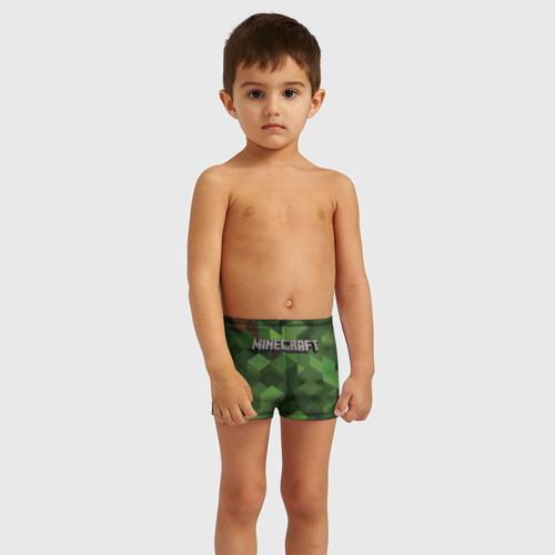 Детские купальные плавки 3D MINECRAFT  Фото 01