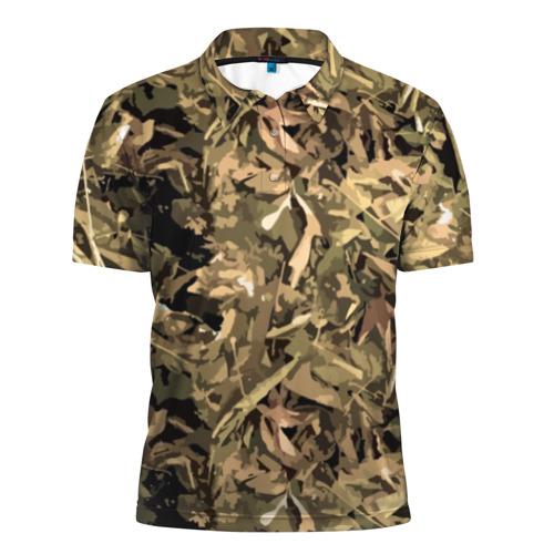 Мужская рубашка поло 3D Камуфляж - листья