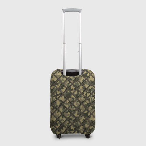Чехол для чемодана 3D Камуфляж под сеткой Фото 01