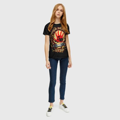 Женская футболка 3D Five Finger Death Punch Фото 01