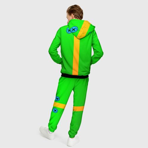 Мужской костюм 3D BRAWL STARS LEON (НА СПИНЕ) Фото 01