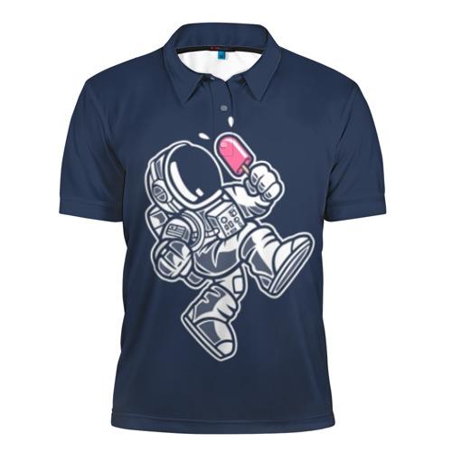 Мужская рубашка поло 3D Астронавт с мороженым