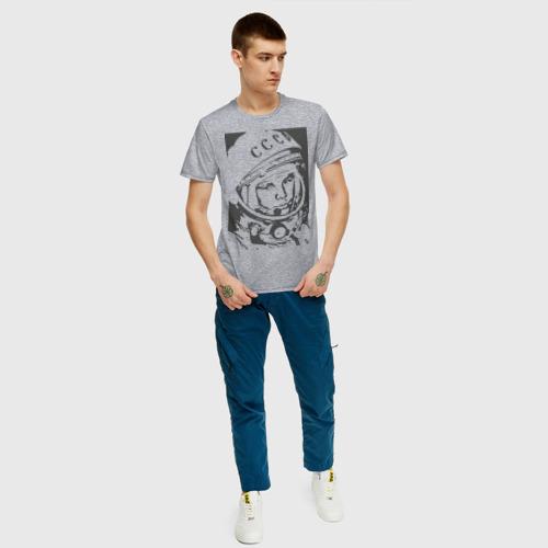 Мужская футболка хлопок Гагарин Фото 01