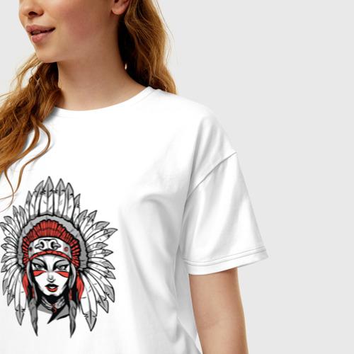 Женская футболка хлопок Oversize Индианка Фото 01