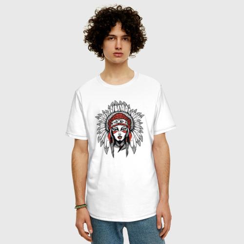 Мужская футболка хлопок Oversize Индианка Фото 01