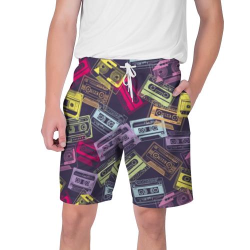 Мужские шорты 3D Разноцветные кассеты Фото 01