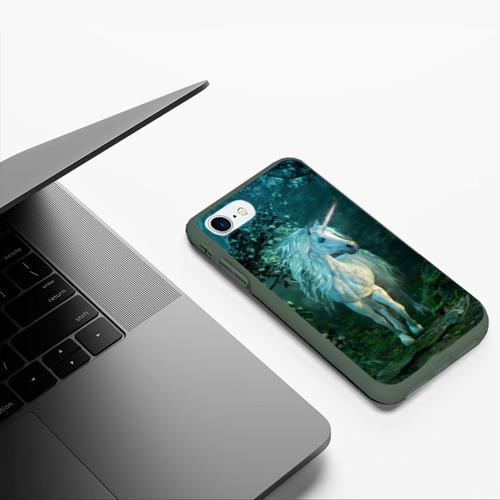 Чехол для iPhone 7/8 матовый Единорог Фото 01