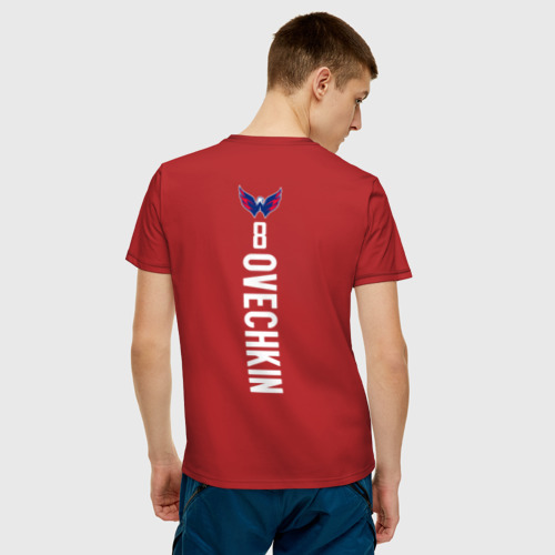 Мужская футболка хлопок  Alexander Ovechkin Red Backer Фото 01